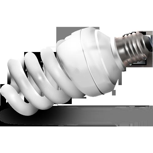 иконка fluorescent, флуоресцентная лампочка, энергосберегающая лампочка,