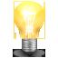 иконка lamp, лампочка,