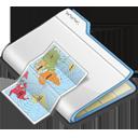 иконки  folder, папка, карта, интернет,