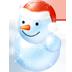 иконка snowman, снеговик, новый год,