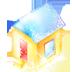 иконка house, дом, новый год,