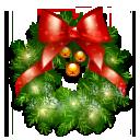 иконки wreath, венок, новый год,
