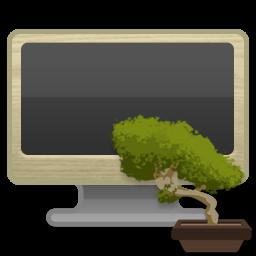 иконка компьютер, монитор, бонсай, mynetwork,