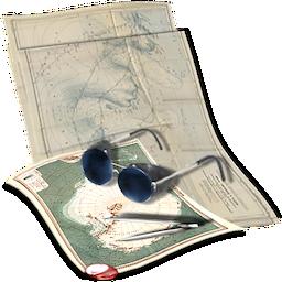 иконки путешествие, карта,