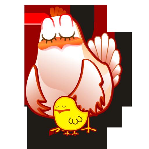 иконка hen, курица,
