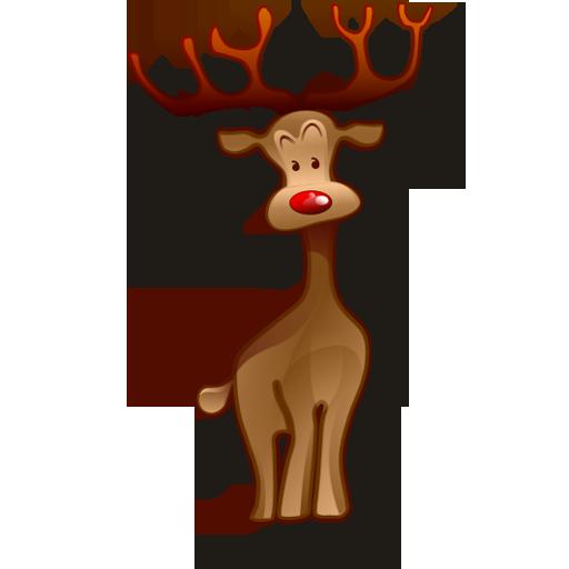 иконки олень, новый год, reindeer,
