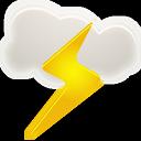 иконки погода, гром, thunder,