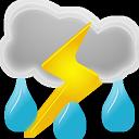иконки  погода, гроза, thunderstorms,
