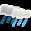иконки погода, ливень, showers,