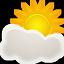 иконки погода, облачно, sunny period,