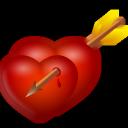 иконки сердце, стрела, arrow and hearts,