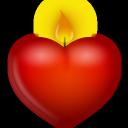 иконки сердце, свеча, candle,
