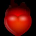 иконки огненное сердце, fire,
