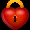 иконка замок, сердце, любовь, lock,
