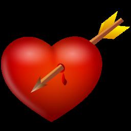 иконки сердце, стрела, arrow and heart,