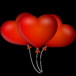иконка воздушные шарики, воздушный шарик, сердце, ballons,