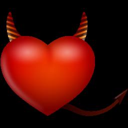 иконки сердце, дьявол, devil,