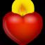 иконка сердце, свеча, candle,
