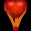 иконка воздушный шар, сердце, любовь, fire ballon,