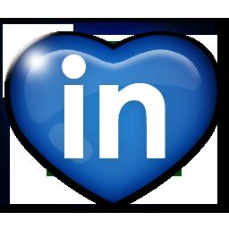 иконка linkedin, linked in,