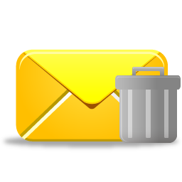 иконки  удалить письмо, почта, email trash,