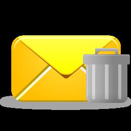 иконки удалить письмо, почта, email trash,