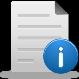 иконки информация о файле, информация, файл, file info,