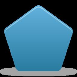 иконки пятиугольник, pentagon,