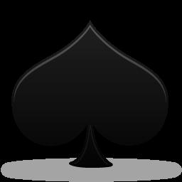 иконка пика, карты, spades,