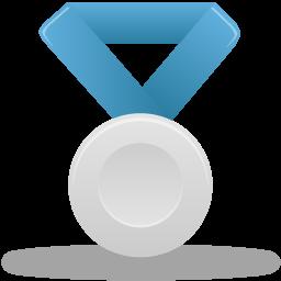 иконки медаль, серебро, metal silver,