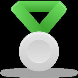 иконка медаль, серебро, metal silver,