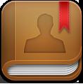 иконка contacts book, адресная книга, контакты,