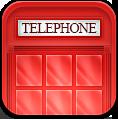 иконки phonebox, лондон, телефонная будка, телефон,