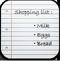 иконка shopping list, покупки, заметки,