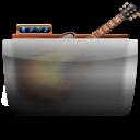 иконки папка, гитара, garageband,