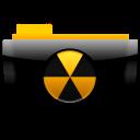 иконки опасность, радиация, папка, burn,