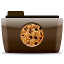 иконки папка, печенье, cookies,