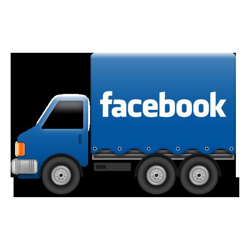 иконки facebook, фейсбук, грузовик, машина,