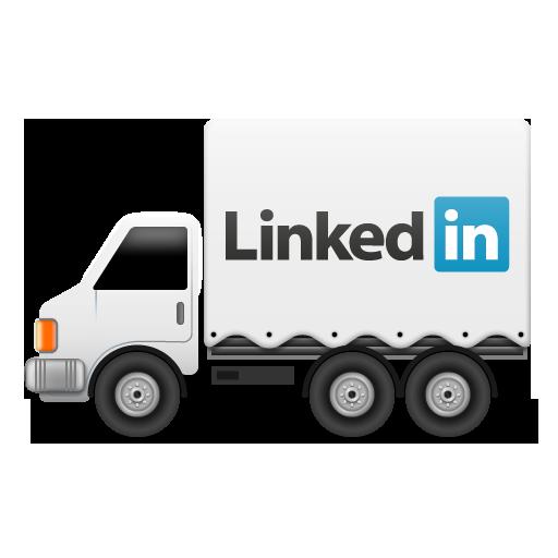 иконки linkedin, грузовик, машина,
