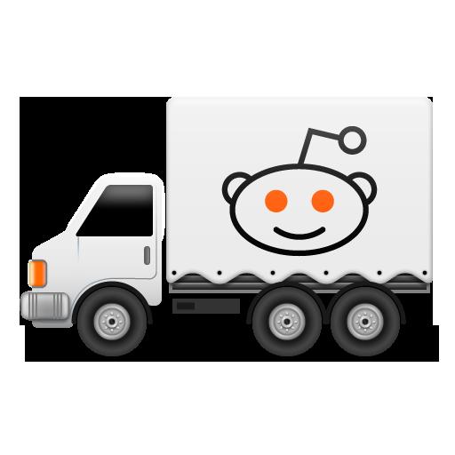 иконка reddit, грузовик, машина,