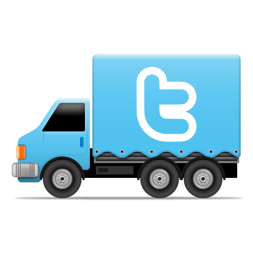 иконки twitter, твиттер, грузовик, машина,