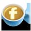 иконки facebook, фейсбук, кофе, латте,