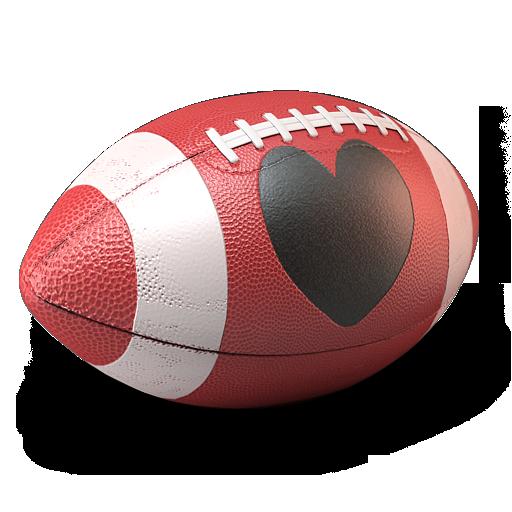 иконки американский футбол, футбольный мяч, сердце,