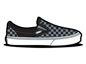 иконки обувь, vans, в клеточку,