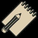 иконка блокнот, заметки, заметка, sketch book,