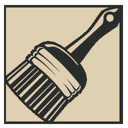 иконка кисть, кисточка, brush,