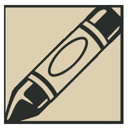 иконки мелок, crayon,