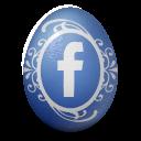 иконка facebook, яйцо,