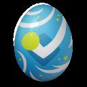 иконка foursquare, яйцо,