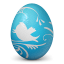 иконки twitter, твиттер, яйцо,